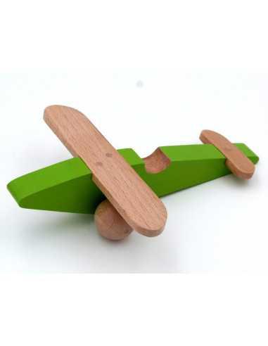 Avion en bois vert