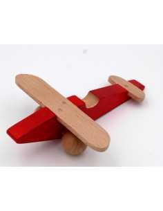 Avion en bois rouge