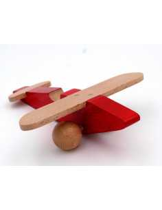 Red wooden plane