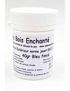 40 gr peinture extérieur norme jouet EN71.3 Bleu foncé