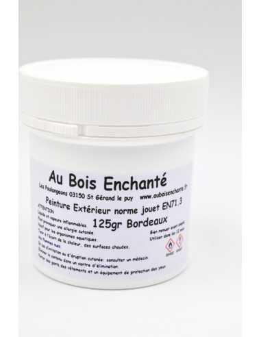 125 gr Peinture extérieur norme jouet EN71.3 Bordeaux