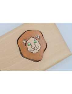 Prénom puzzle lion