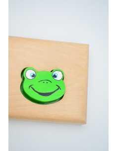 Prénom puzzle grenouille