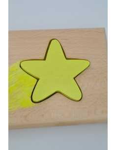 Prénom puzzle étoile