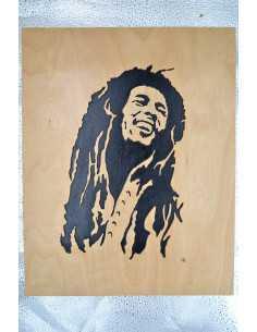 Painting Bob Marley scotched.