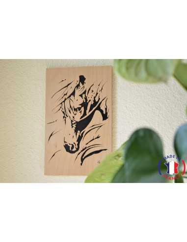 wooden painting chantournés - horse's head