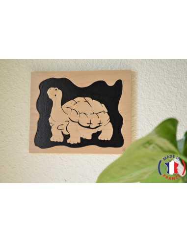 wooden painting chantournés - turtle table
