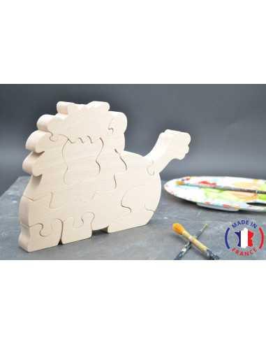 puzzle en bois - puzzle lion