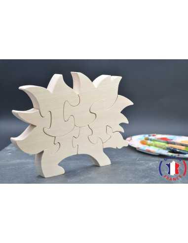 puzzle en bois - puzzle herisson