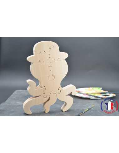 puzzle en bois - puzzle pieuvre