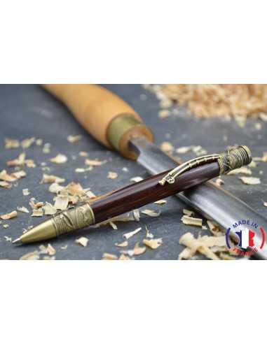 Stylo à bille en bois de cocobolo et aubier