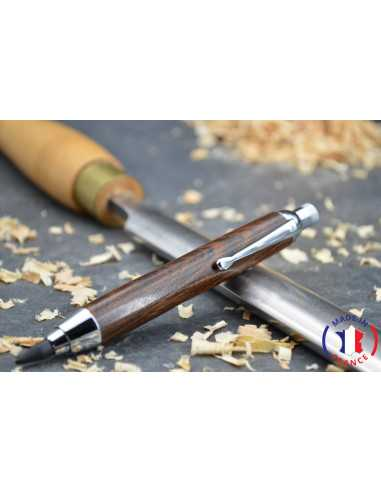Stylo porte mine en bois de palissandre du Mexique.