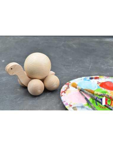 jouet en bois - tortue boule