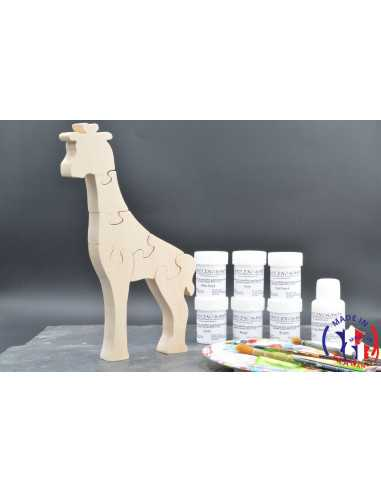 Pack Kit peintures + Puzzle girafe