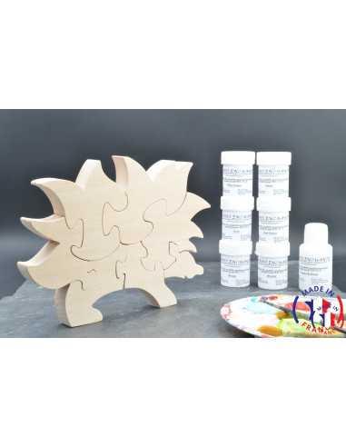 Pack Kit peintures + Puzzle hérisson