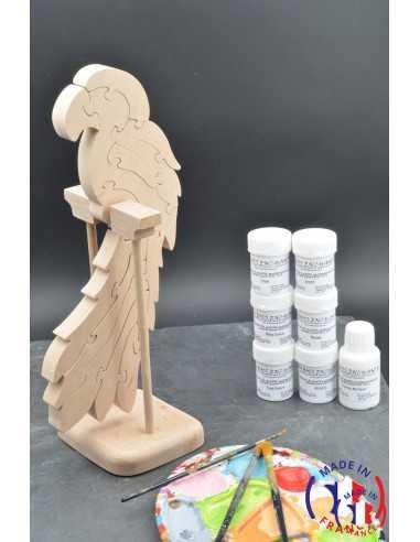 Pack Kit peintures + Puzzle perroquet