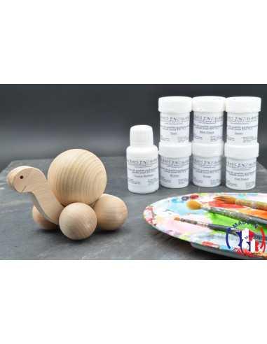 Pack Kit peintures + Tortue boule