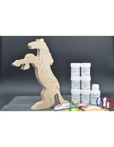 Pack Kit peintures + Puzzle cheval