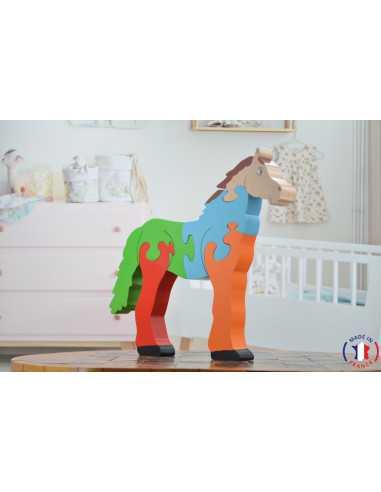 puzzle en bois - puzzle cheval