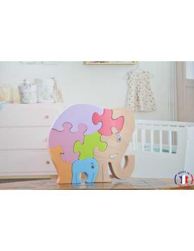 puzzle en bois - puzzle elephant