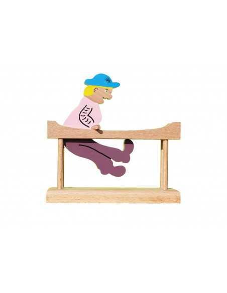 Gymnaste en bois