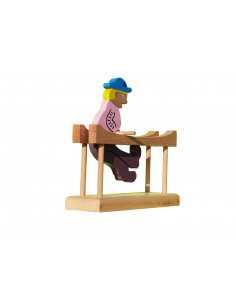jouet en bois - Gymnaste