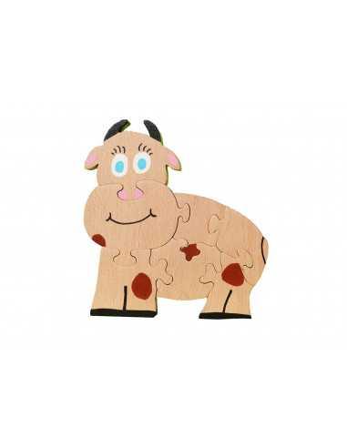 wooden puzzle - cow puzzle 1
