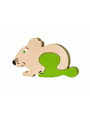wooden toy - mouse toothbox