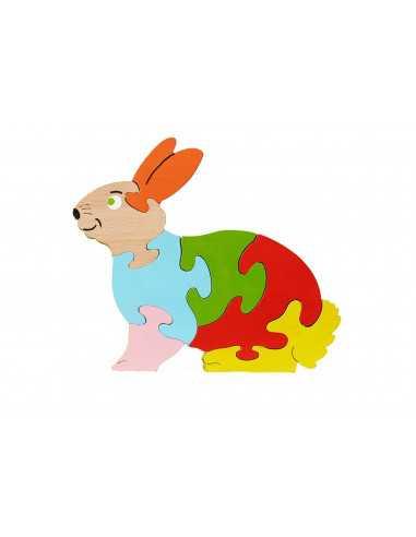 puzzle en bois - Puzzle Lapin