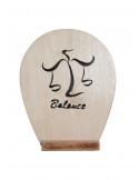 tableau en bois chantournés - Signe du Zodiaque - balance