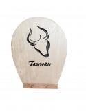 tableau en bois chantournés - Signe du Zodiaque - taureau
