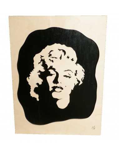chantoured wooden painting - marilyn monroe painting