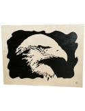 tableau en bois chantournés - tableau tête d'aigle