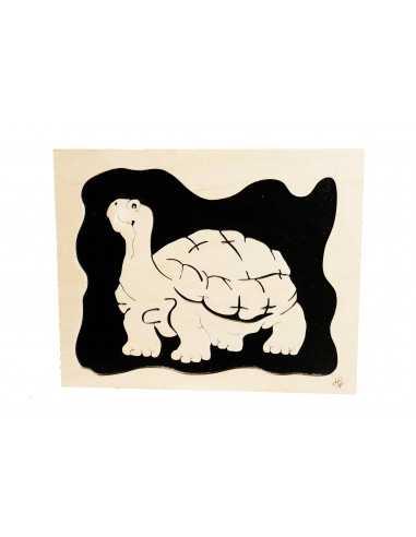 tableau en bois chantournés - tableau tortue