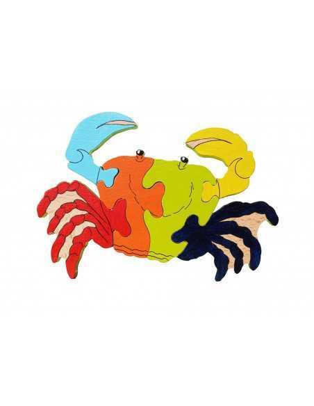 Puzzle en bois crabe