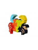 puzzle en bois - puzzle crabe