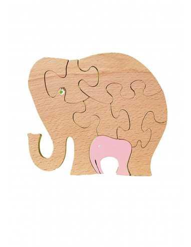 wooden puzzle - elephant puzzle