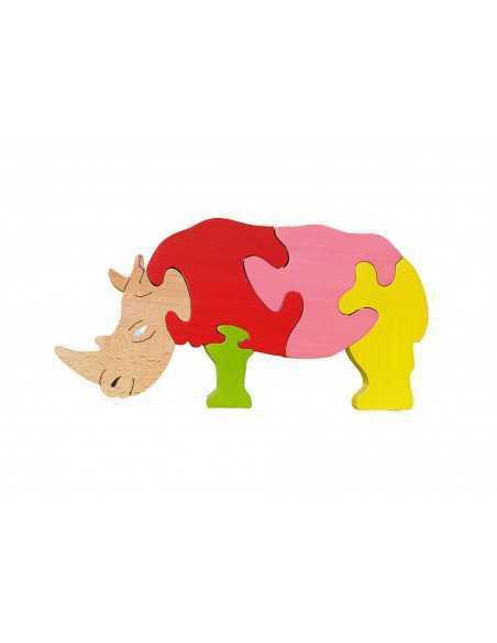 Puzzle en bois rhinocéros