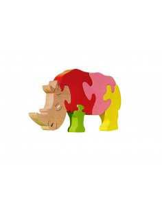 puzzle en bois - puzzle rhinocéros