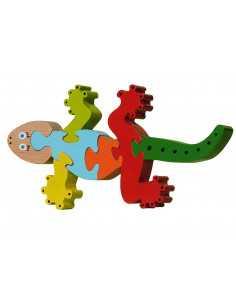 wooden puzzle - salamander puzzle