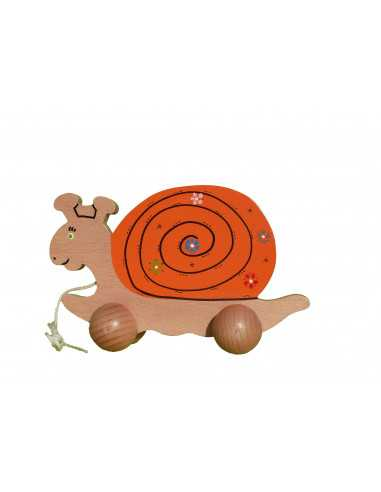 Wooden toy - Snail to shoot