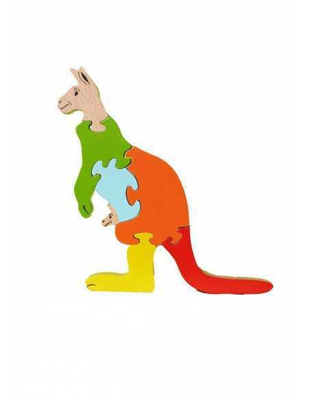 Puzzle en bois kangourou
