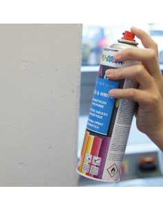 Magnetic paint spray