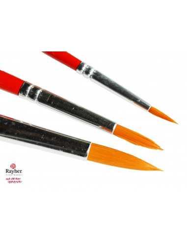 Set of 3 round brushes rayher